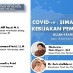 Undang Kemenko Perekonomian RI, Prodi Ilmu Pemerintahan Unsyiah Adakan Kuliah Tamu Daring