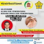 Prodi Ilmu Pemerintahan Gelar Silaturrahmi Alumni dan Dosen